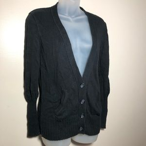 Medium American Eagle Black Sweater Cardigan